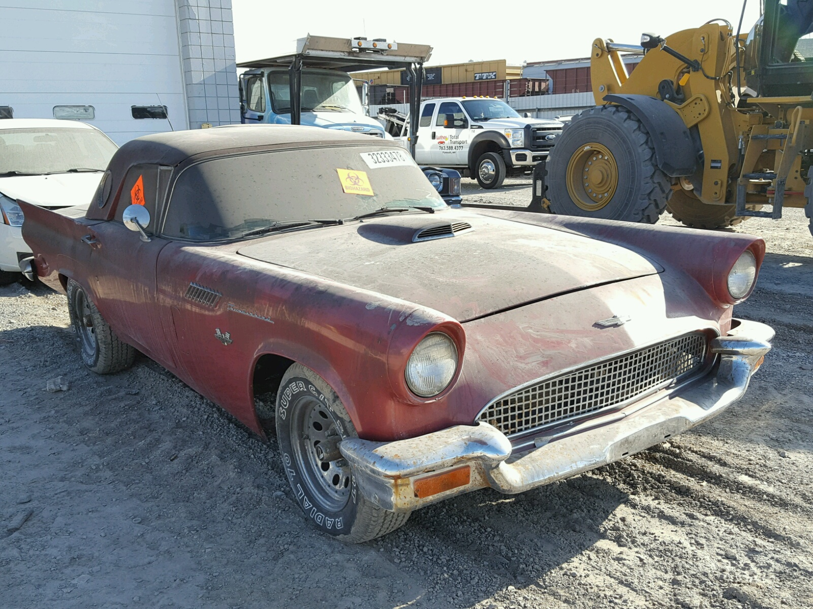 Salvage Cars Usa Buy Now >> 1955 Ford Thunderbird for sale at Copart Houston, TX Lot# 43880727