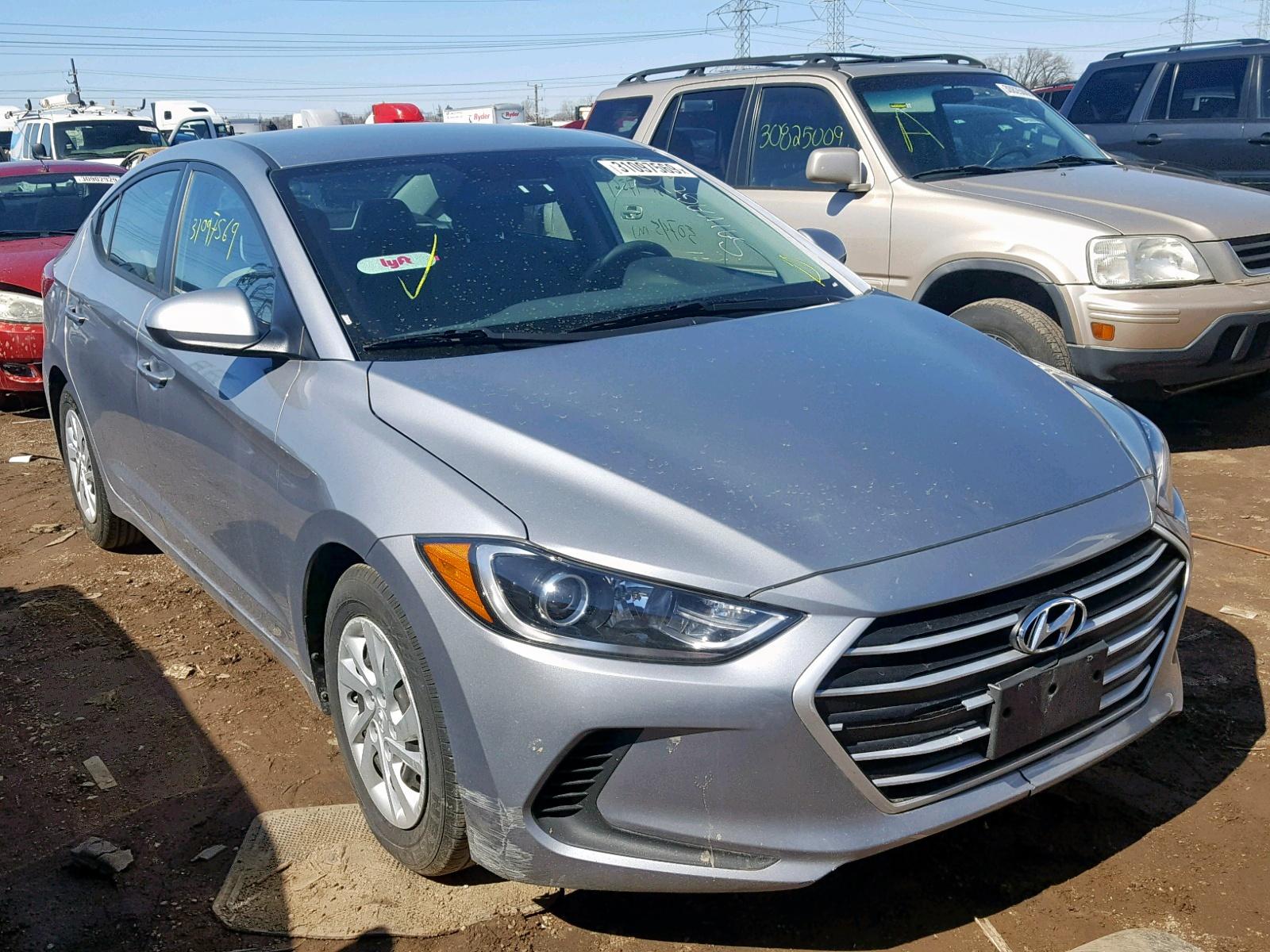 Salvage 2017 Hyundai ELANTRA SE for sale