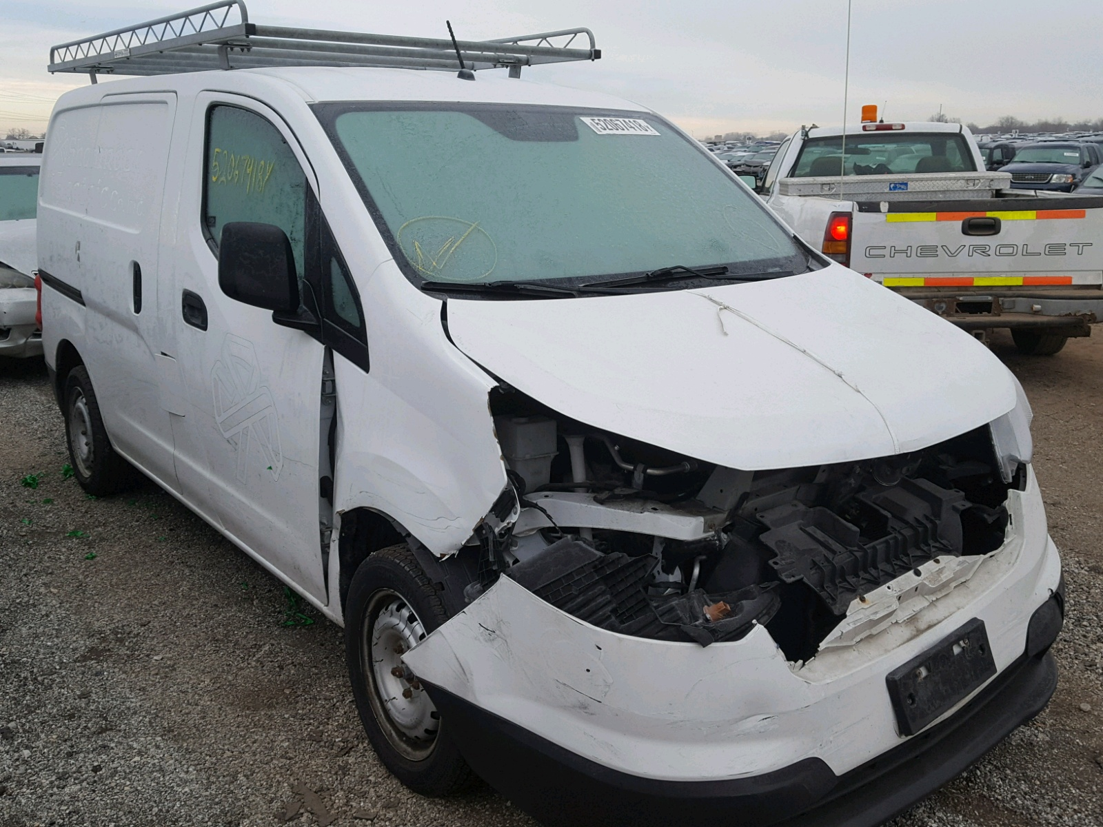 Salvage 2015 Chevrolet CITY EXPRE for sale