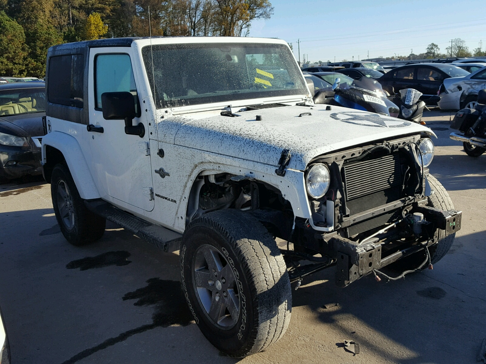 Salvage 2013 Jeep WRANGLER S for sale