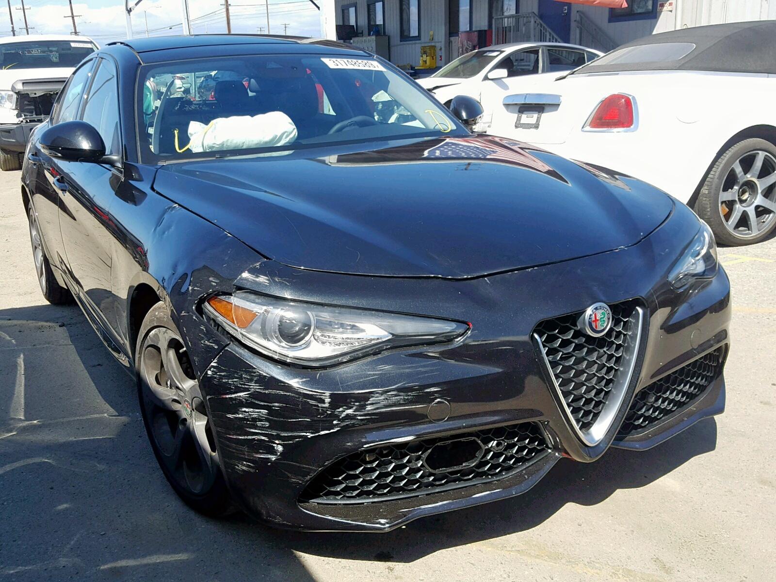 Salvage 2018 Alfa Romeo GIULIA Q4 for sale