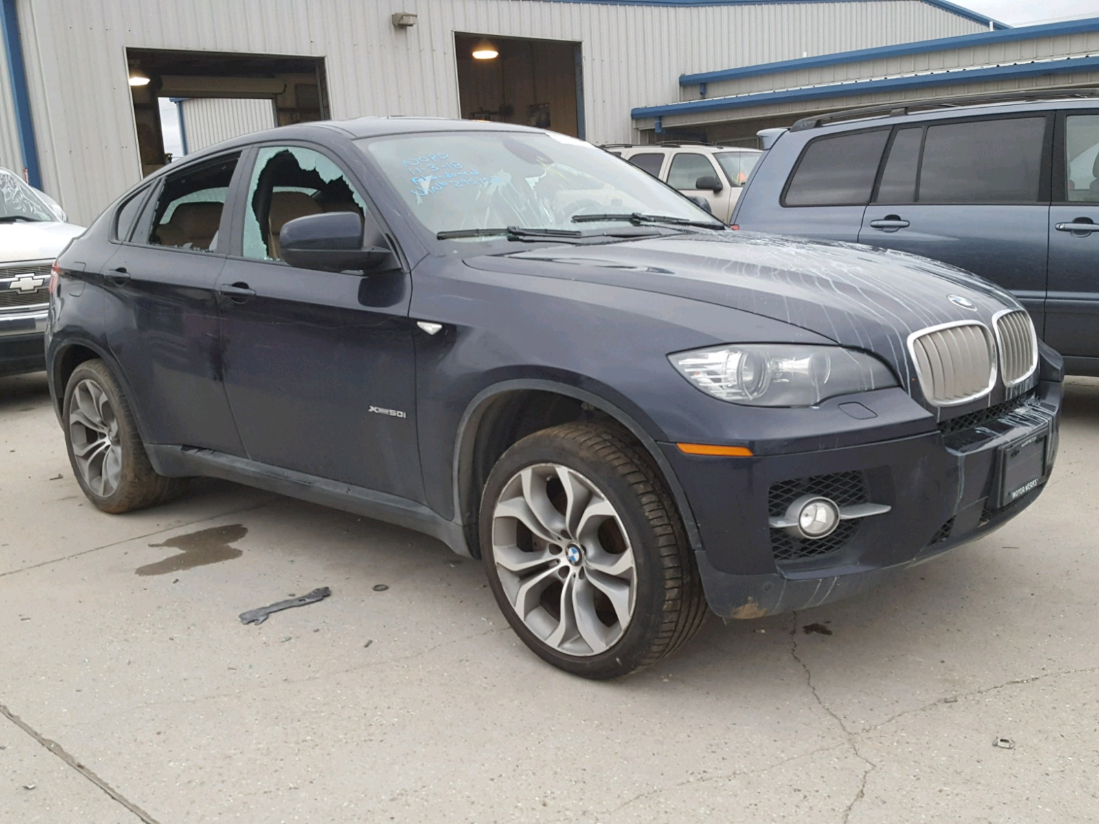 Salvage 2011 BMW X6 XDRIVE5 for sale