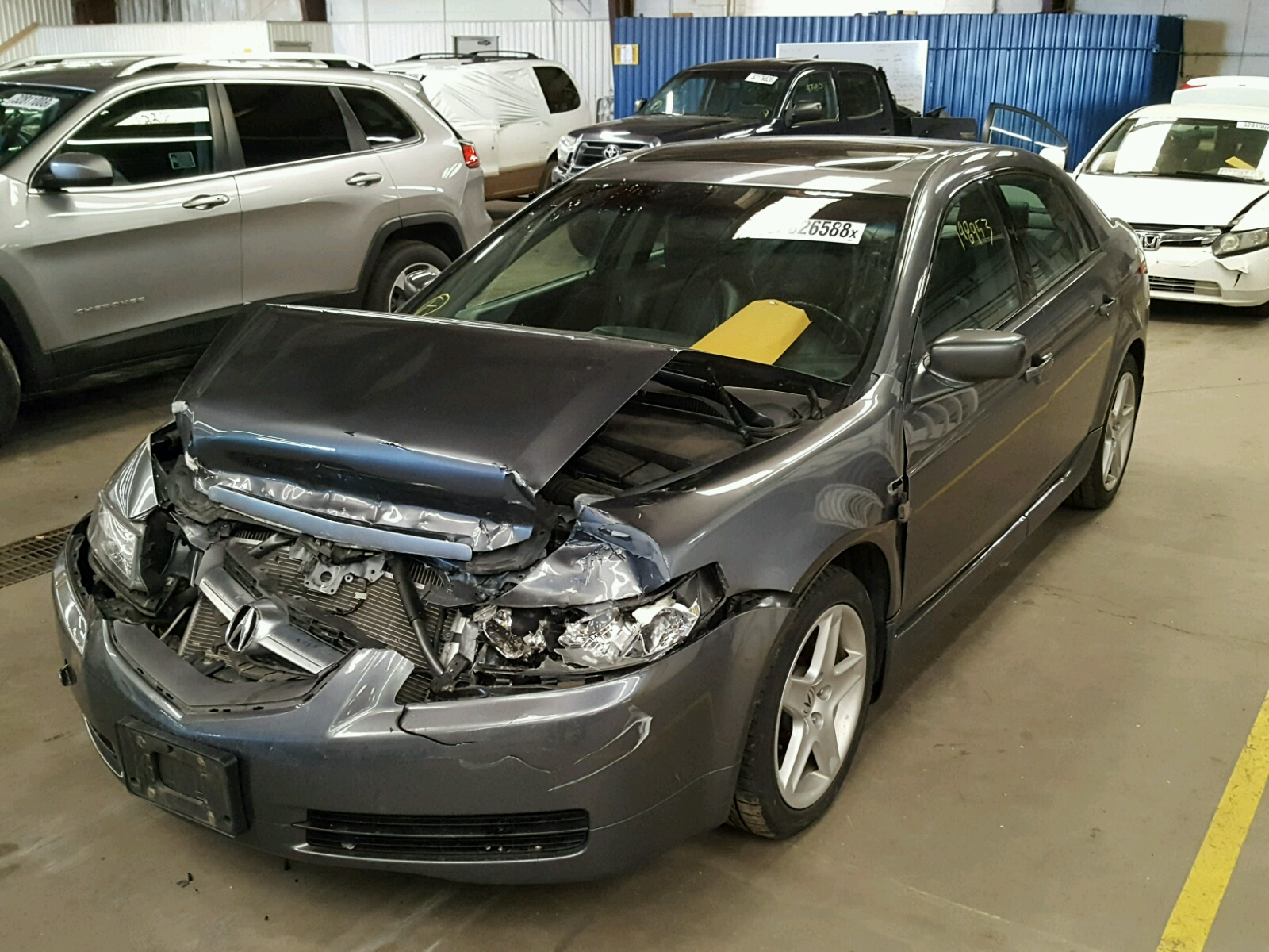 denver on tl salvage for left acura auctions copart view white auto carfinder in title sale online co en lot