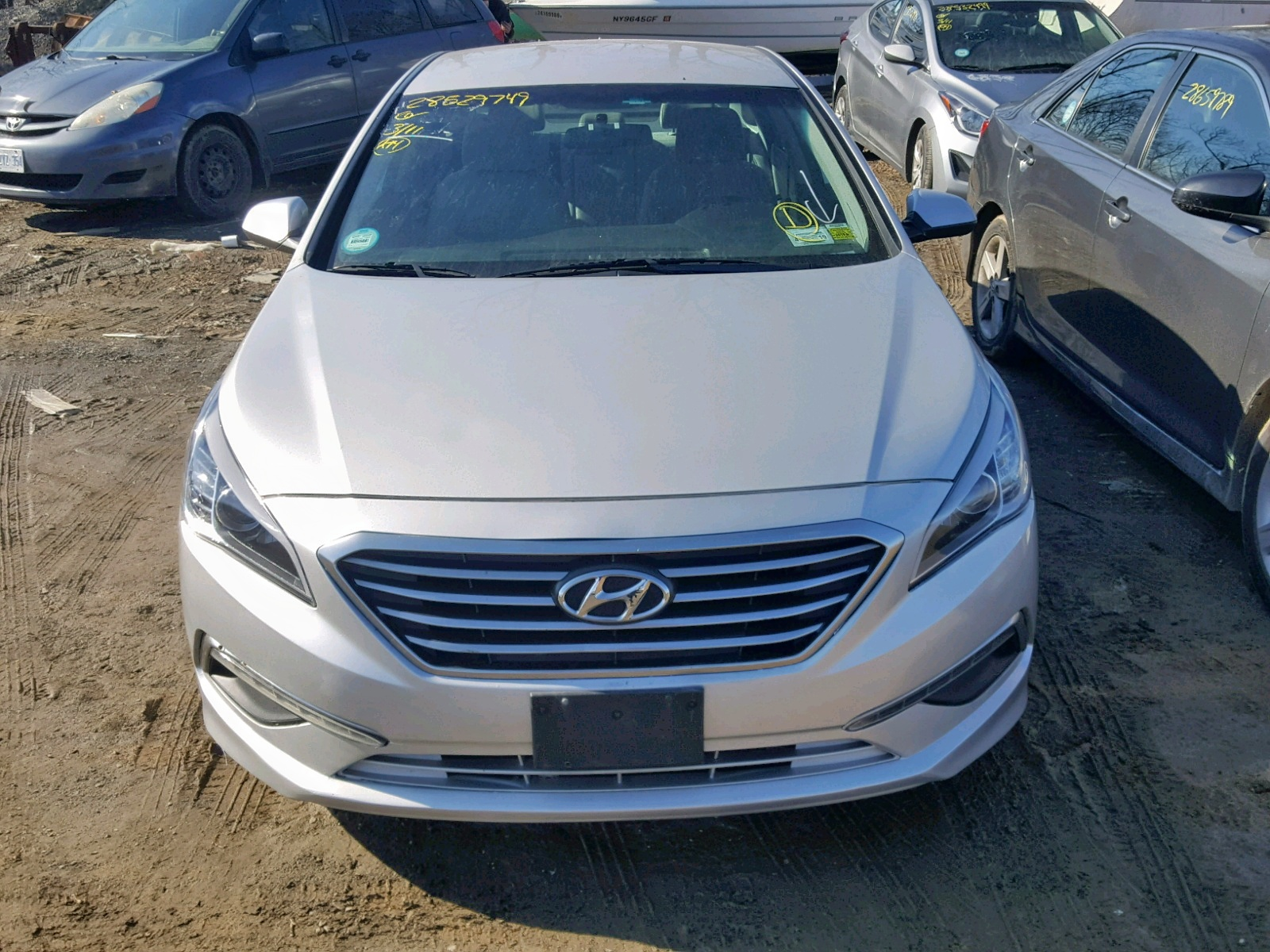 2015 Hyundai Sonata Se 2.4L engine view
