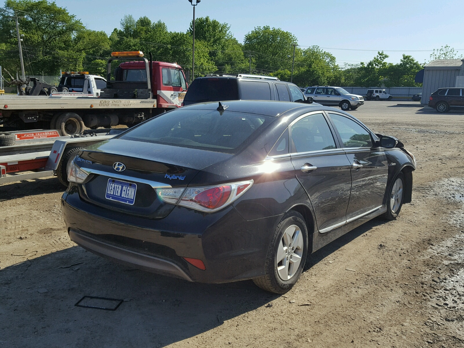 2011 Hyundai Sonata Hybrid for sale at Copart Glassboro NJ Lot