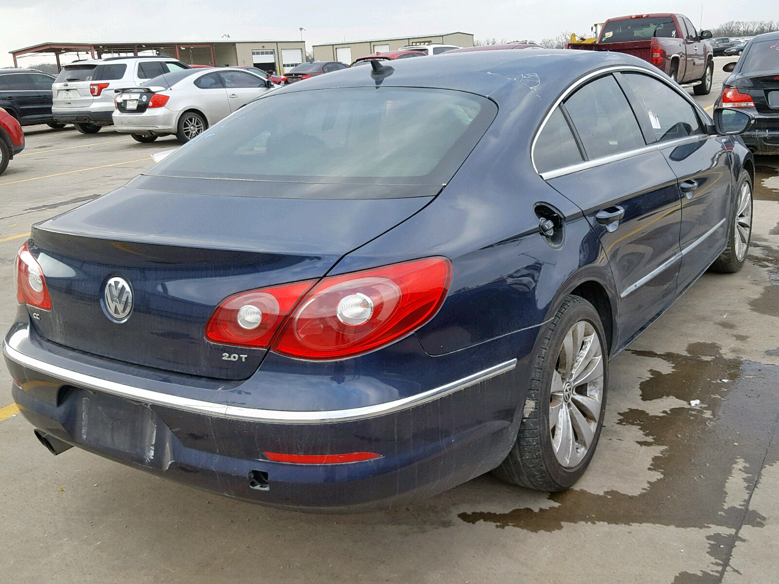 WVWMN7AN3CE521047 - 2012 Volkswagen Cc Sport 2.0L rear view
