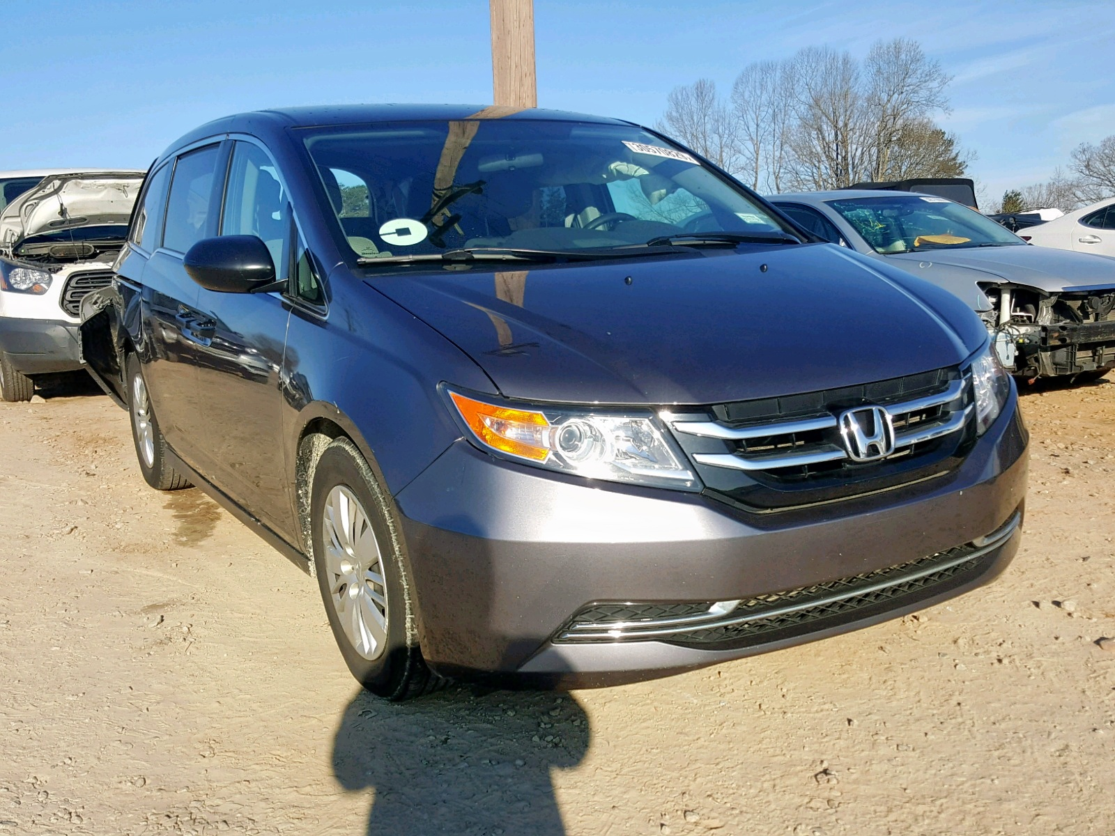 Salvage 2015 Honda ODYSSEY LX for sale