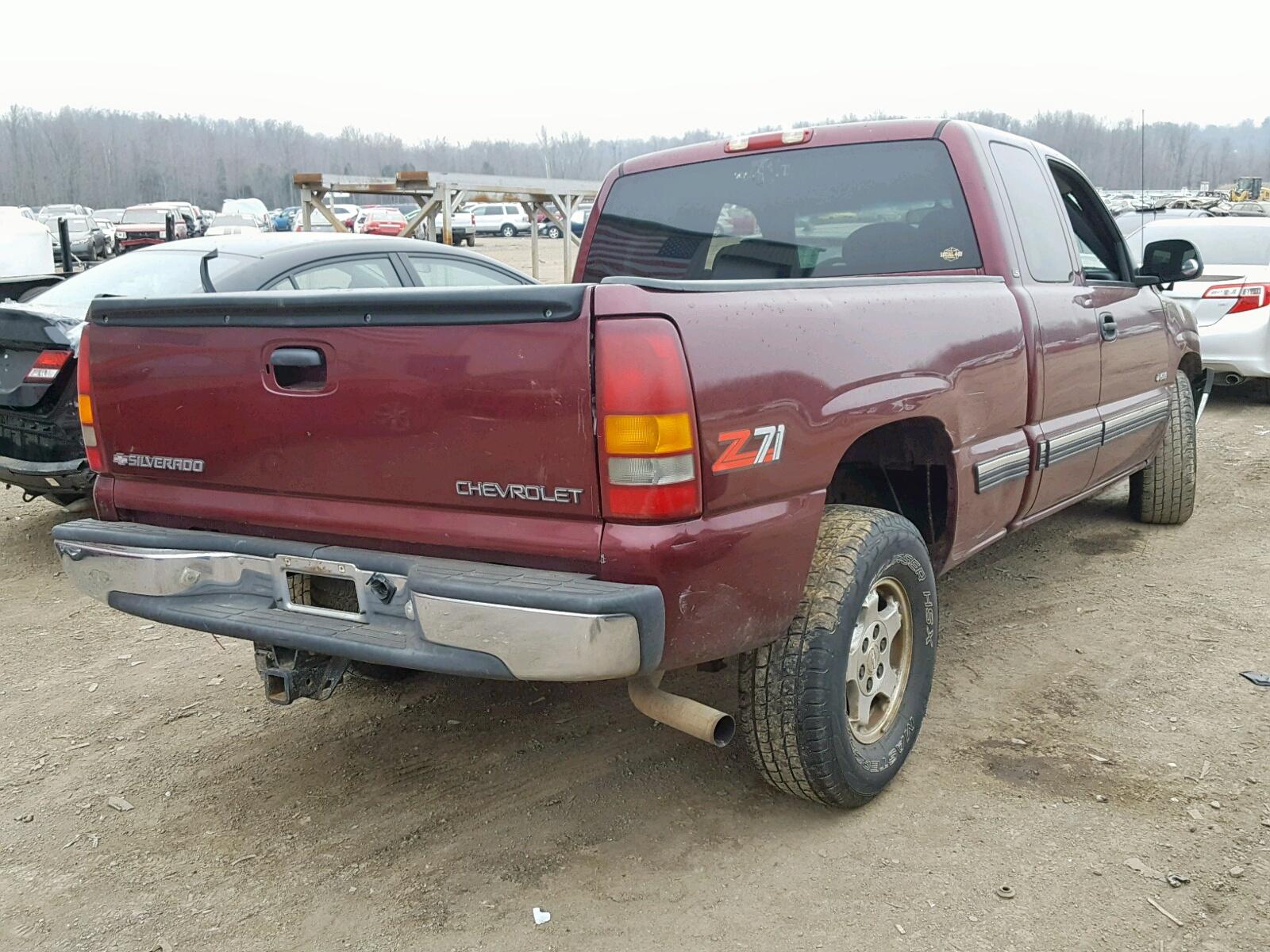 2gcek19t9y1196104 2000 Chevrolet Silverado 5 3l Rear View