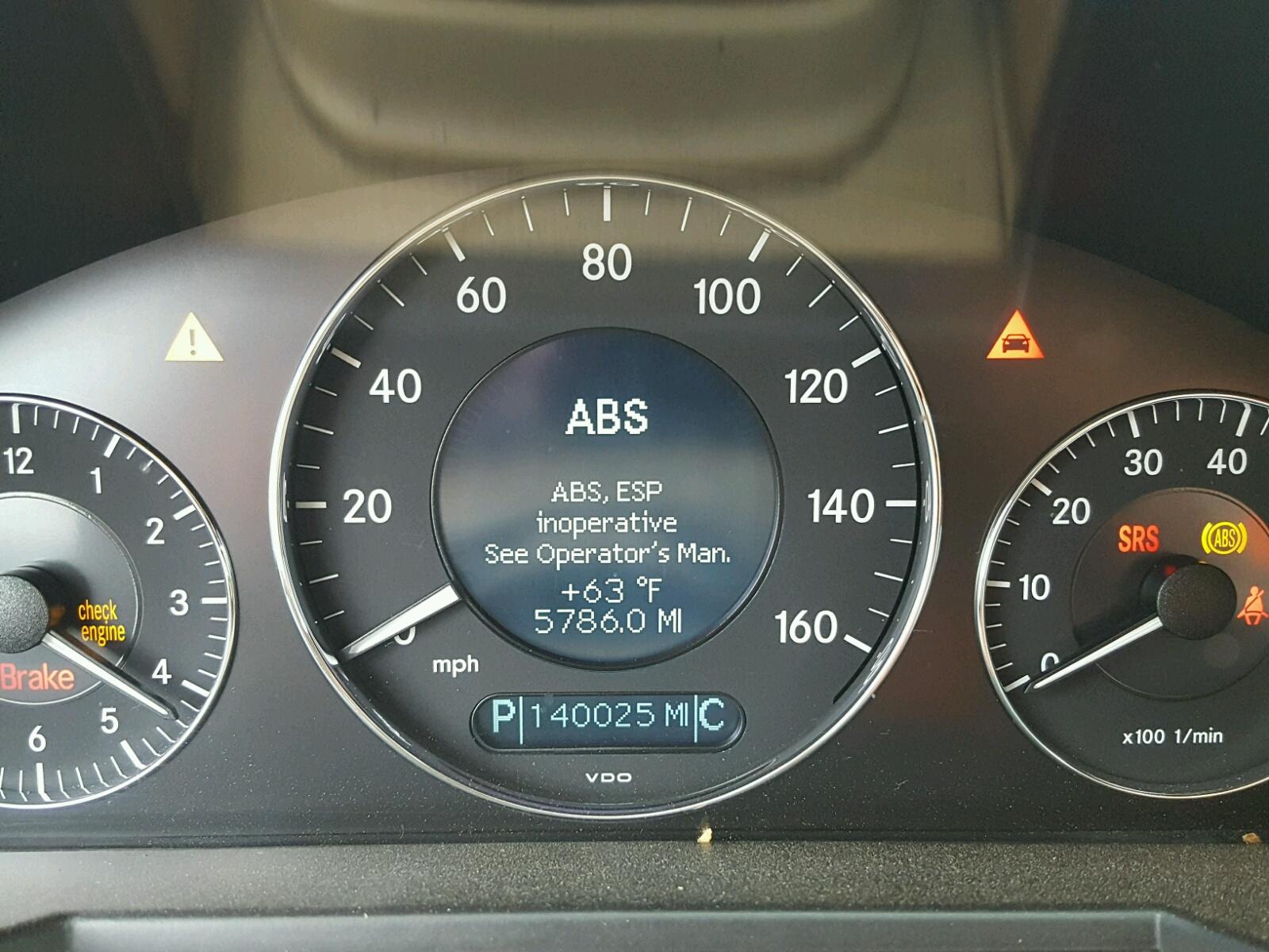 Abs Esp Inoperative Mercedes Benz ✓ The Mercedes Benz