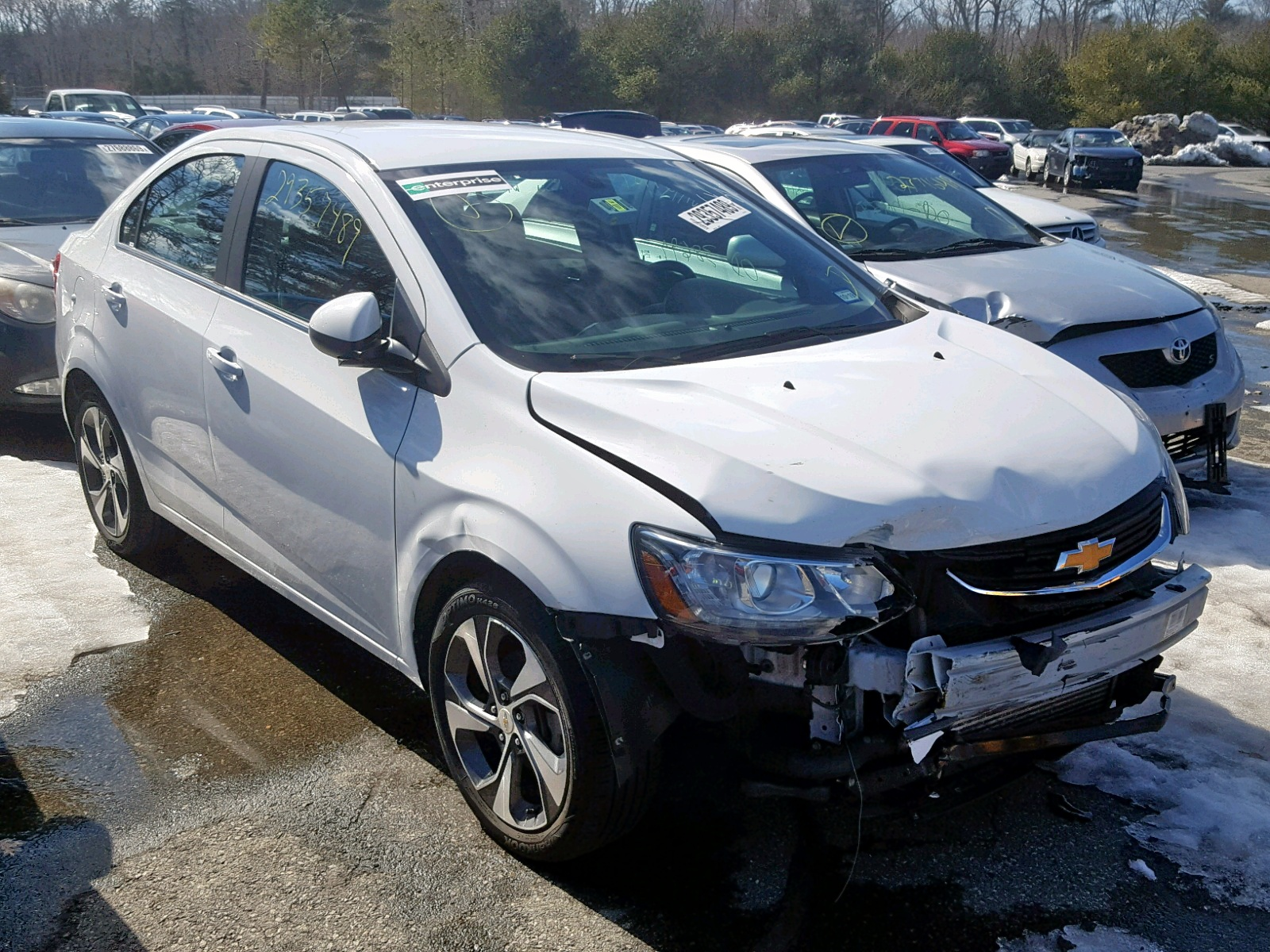 Salvage 2018 Chevrolet SONIC PREMIUM for sale
