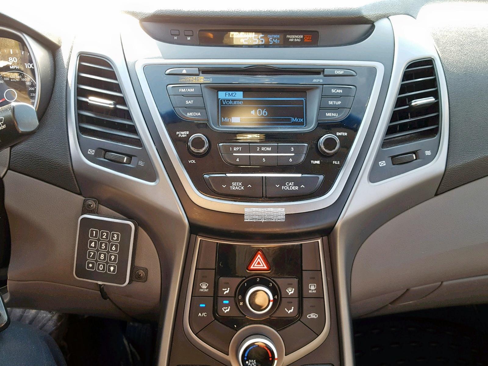 2016 Hyundai Elantra Se 1.8L engine view