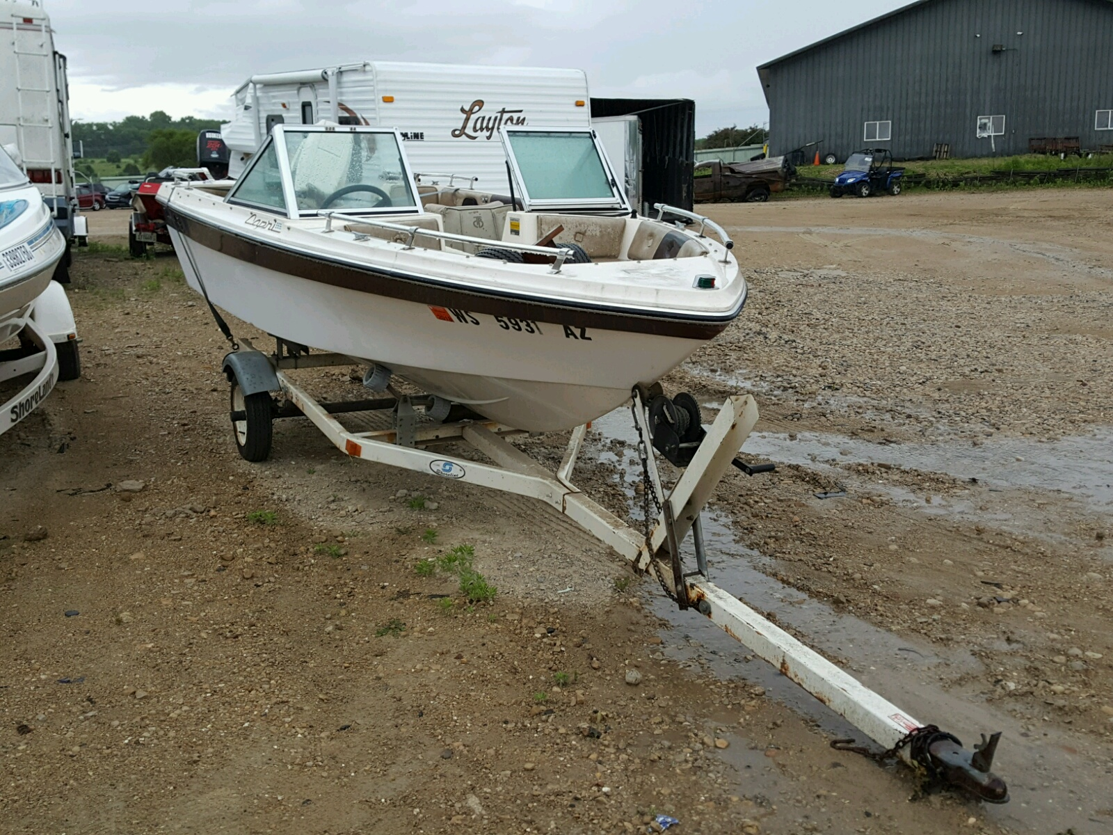 Salvage 1986 Thun MARINE TRAILER for sale