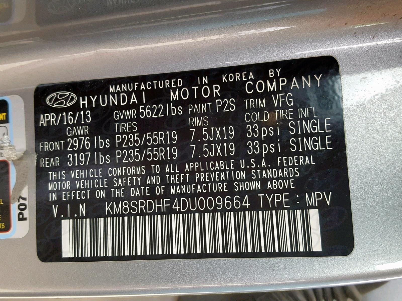 2013 Hyundai Santa Fe L 3 3L 6 in AR - Little Rock