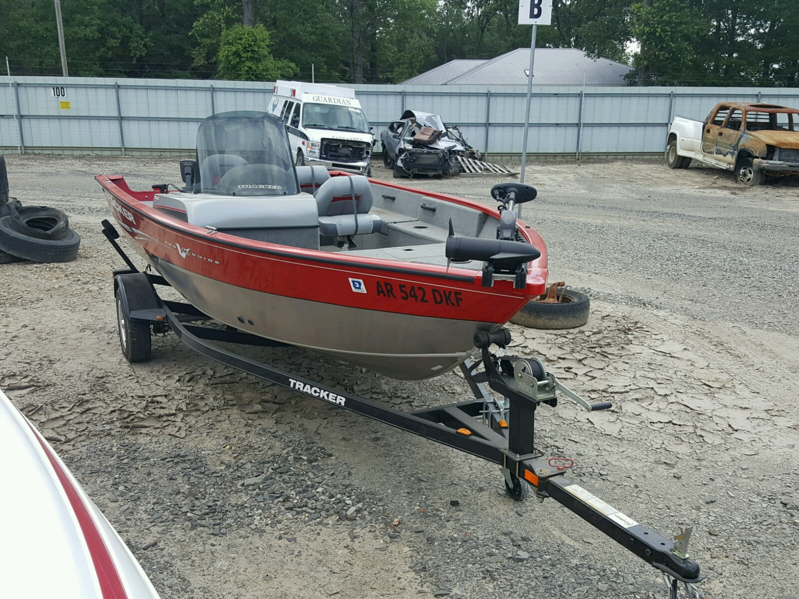 Salvage 2011 Tracker BOAT for sale