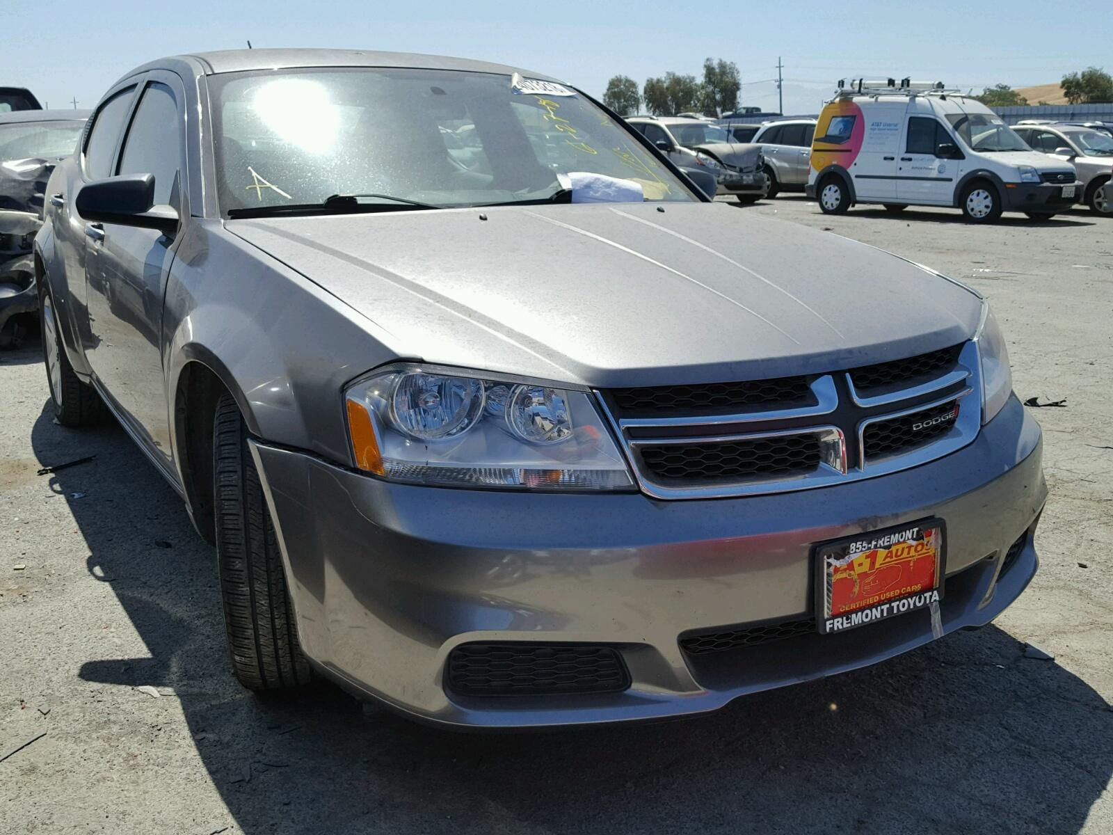 2012 Dodge Avenger SE for sale at Copart Martinez CA Lot