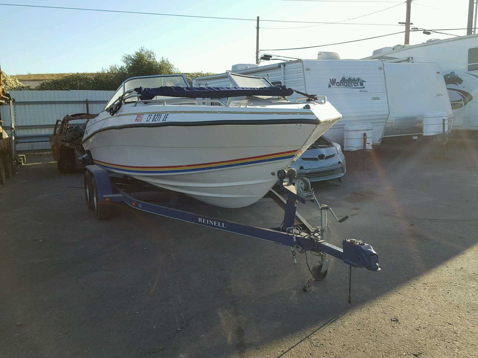 Salvage 1992 Four Winds MARINE TRAILER for sale