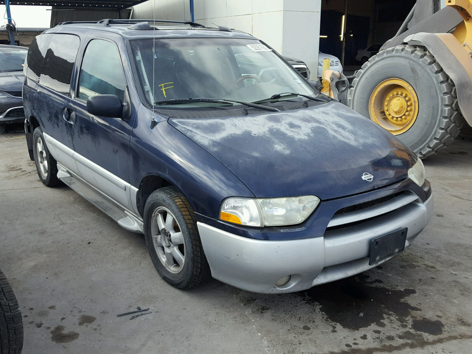 Salvage 2002 Nissan QUEST GLE for sale