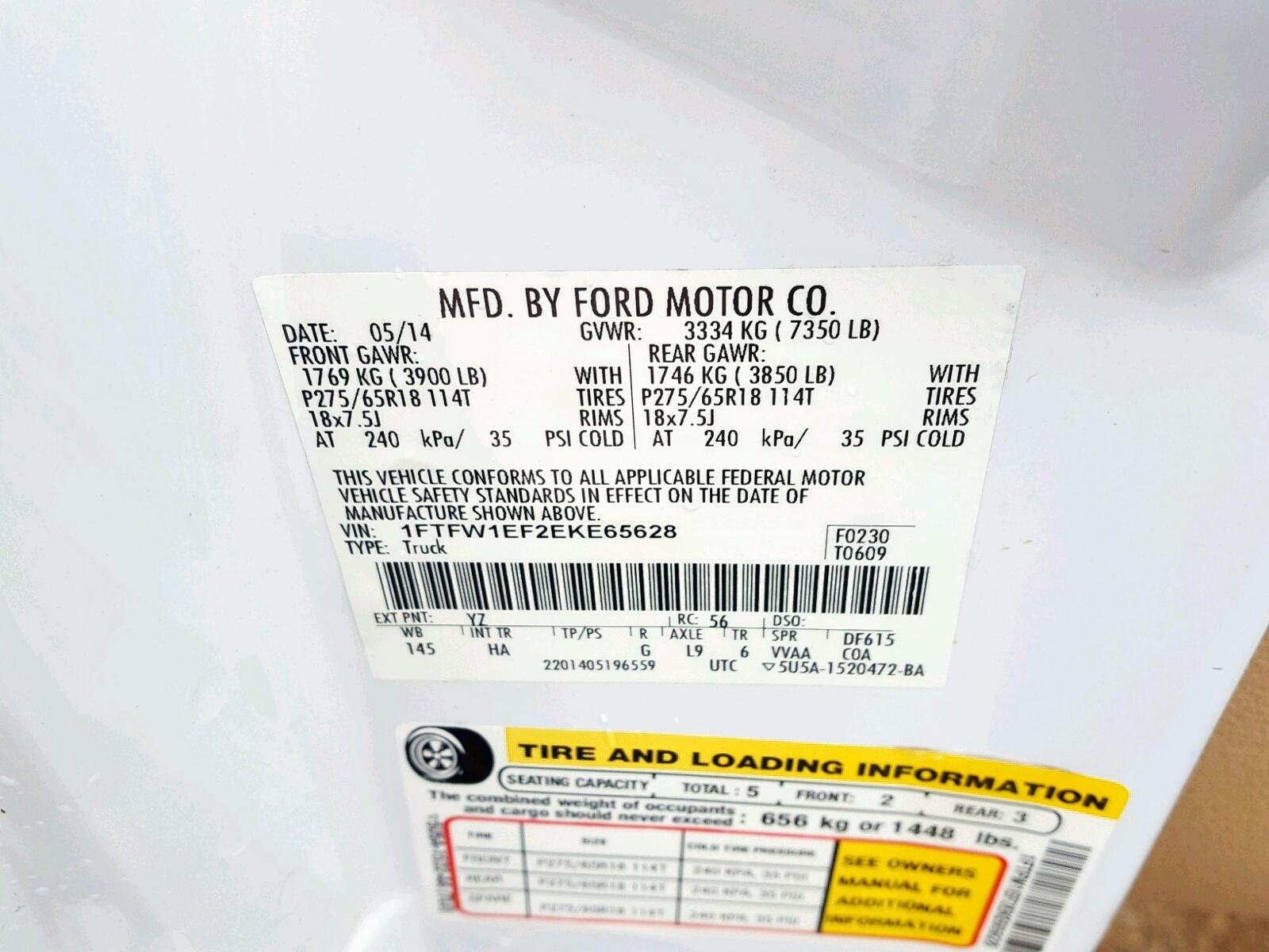 2014 Ford F150 Super 5 0L 8 in AL - Montgomery (1FTFW1EF2EKE65628