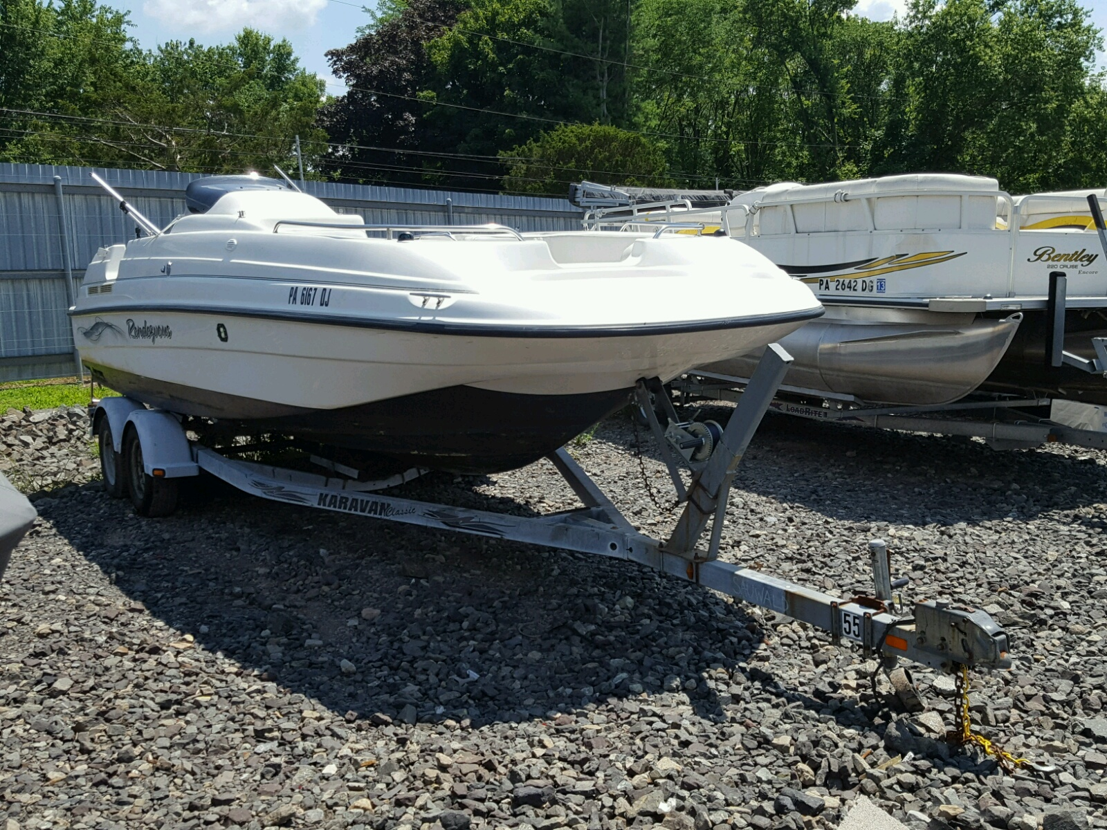 Salvage 2000 Bayliner MARINE TRAILER for sale