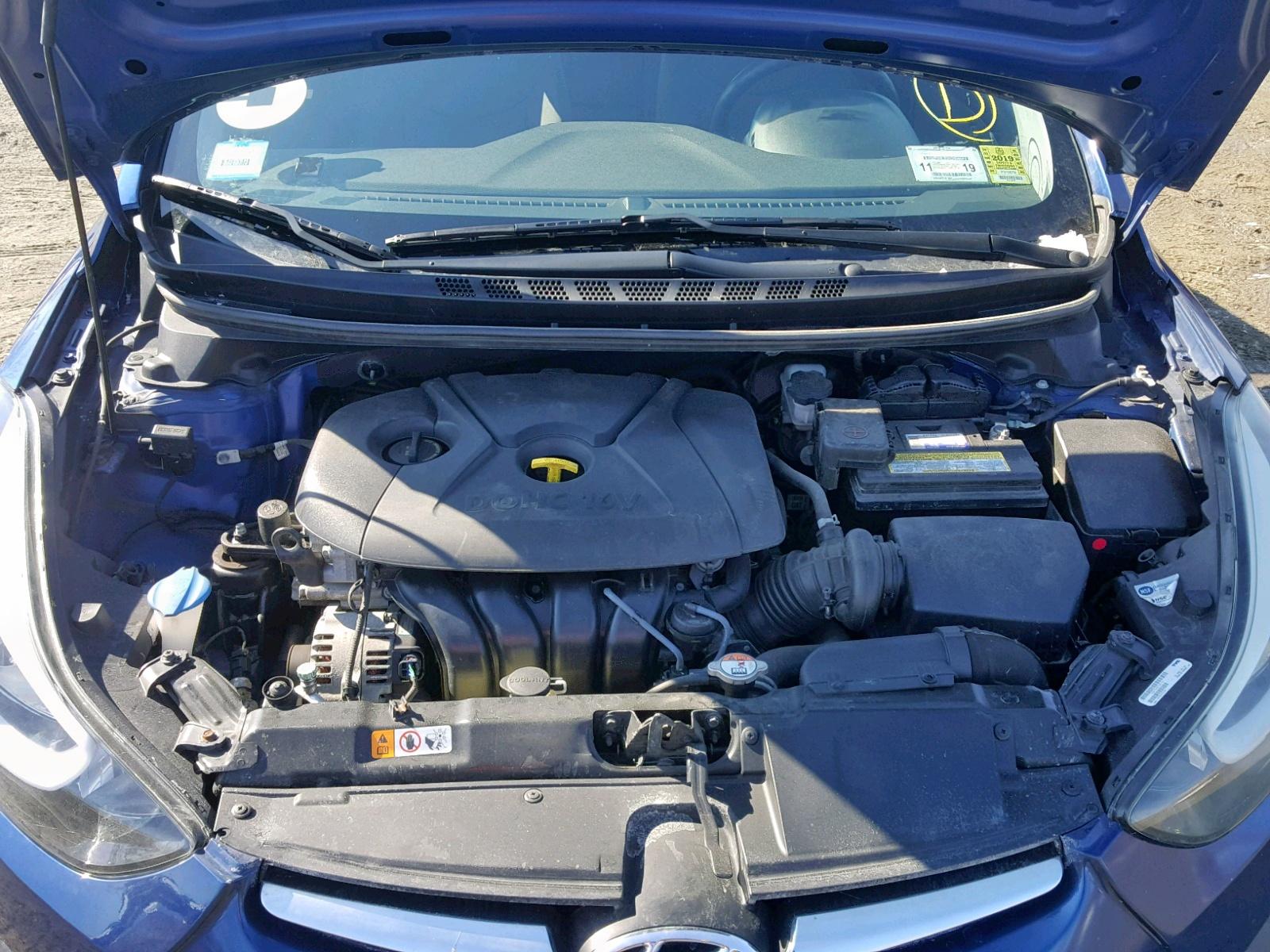5NPDH4AE3GH740750 - 2016 Hyundai Elantra Se 1.8L inside view