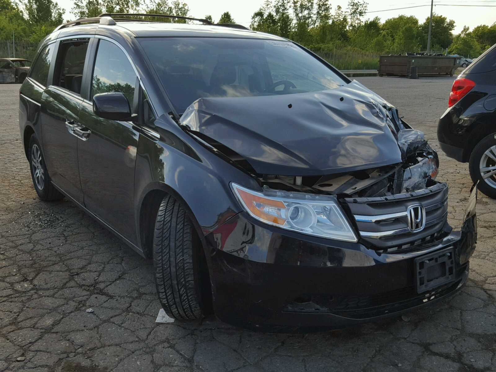 Salvage 2013 Honda ODYSSEY EX for sale