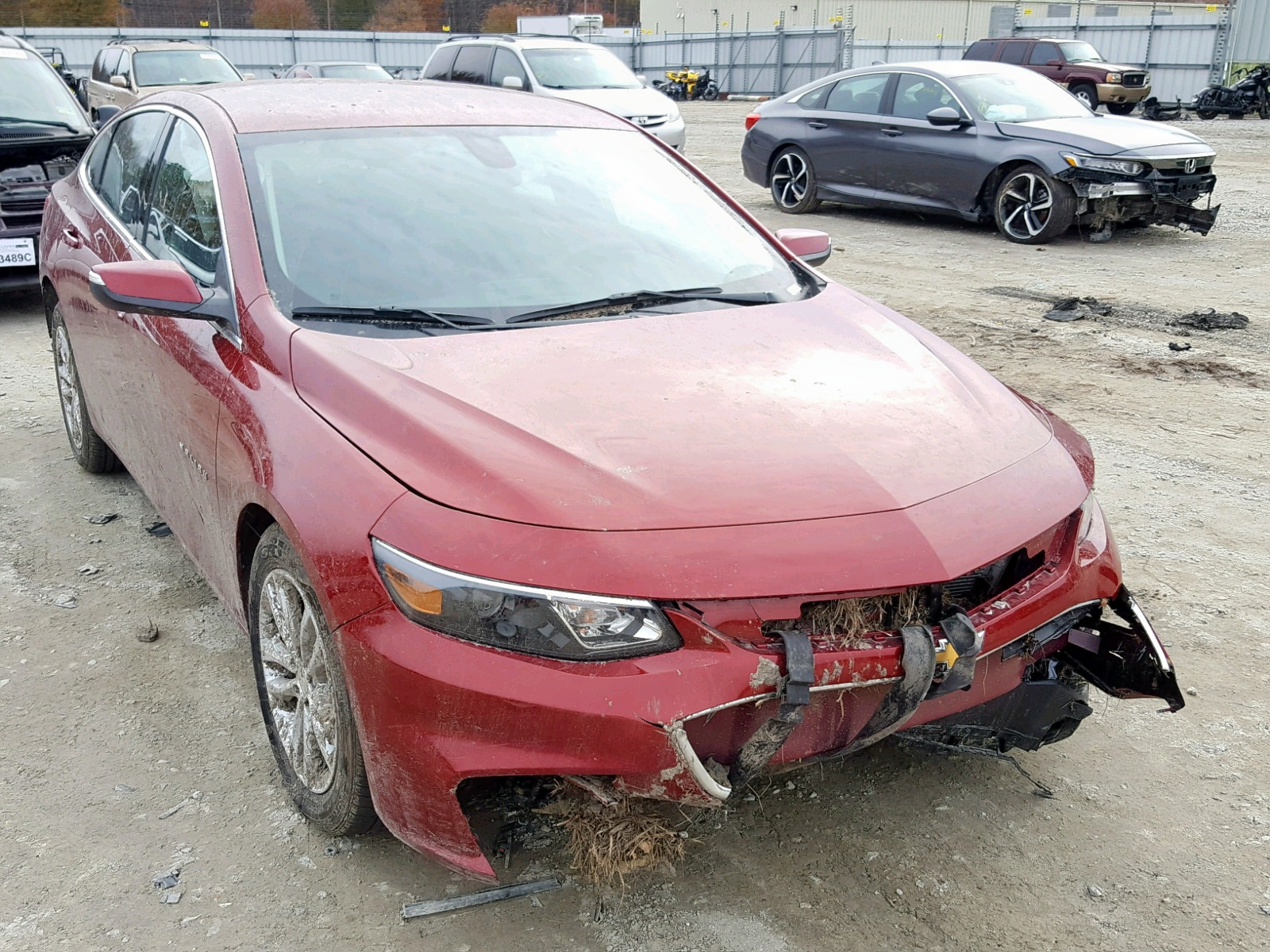 Salvage 2018 Chevrolet MALIBU LT for sale
