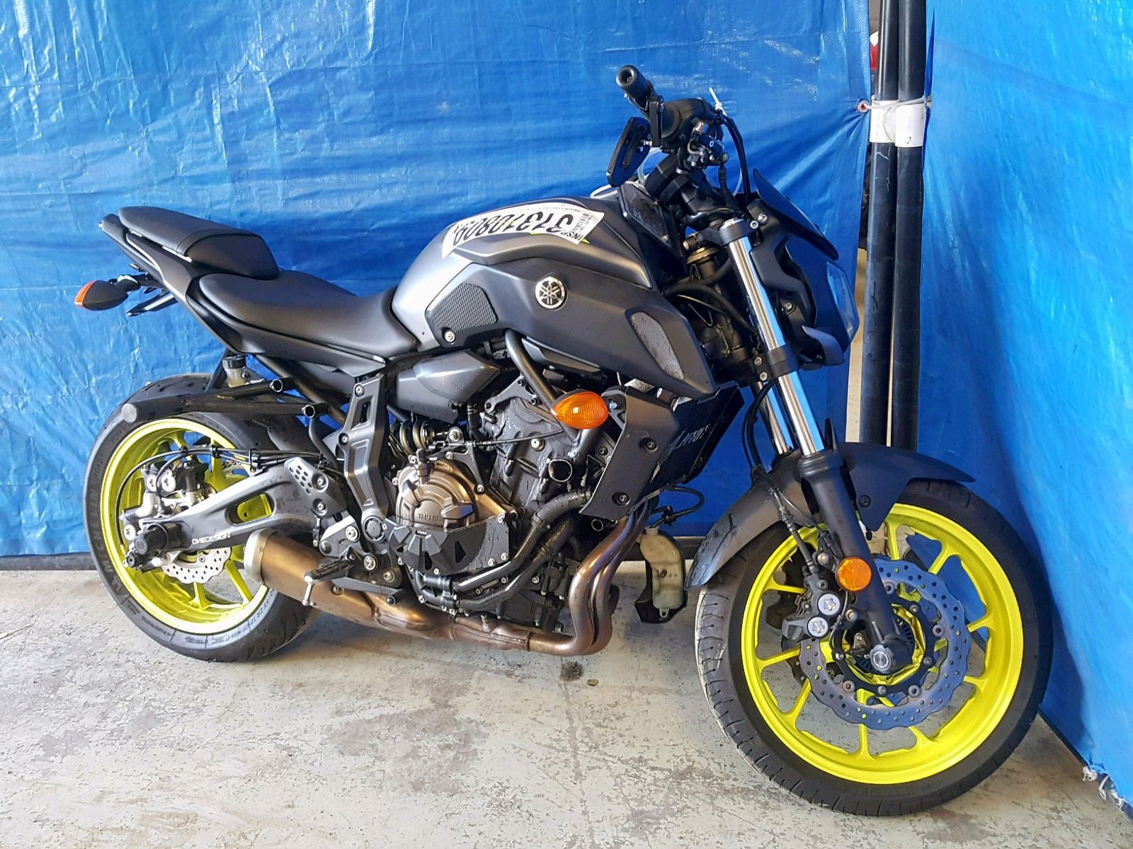 Salvage 2018 Yamaha MT07 C for sale