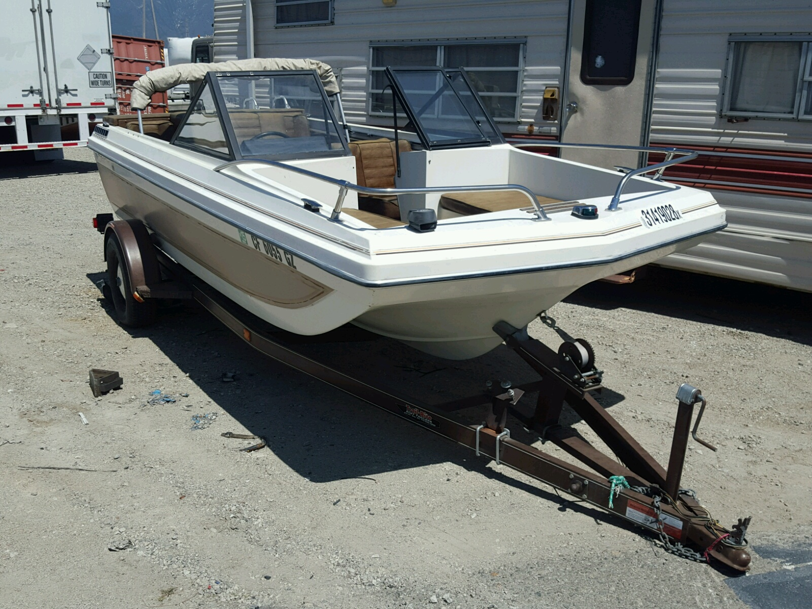 Salvage 1980 Star MARINE TRAILER for sale