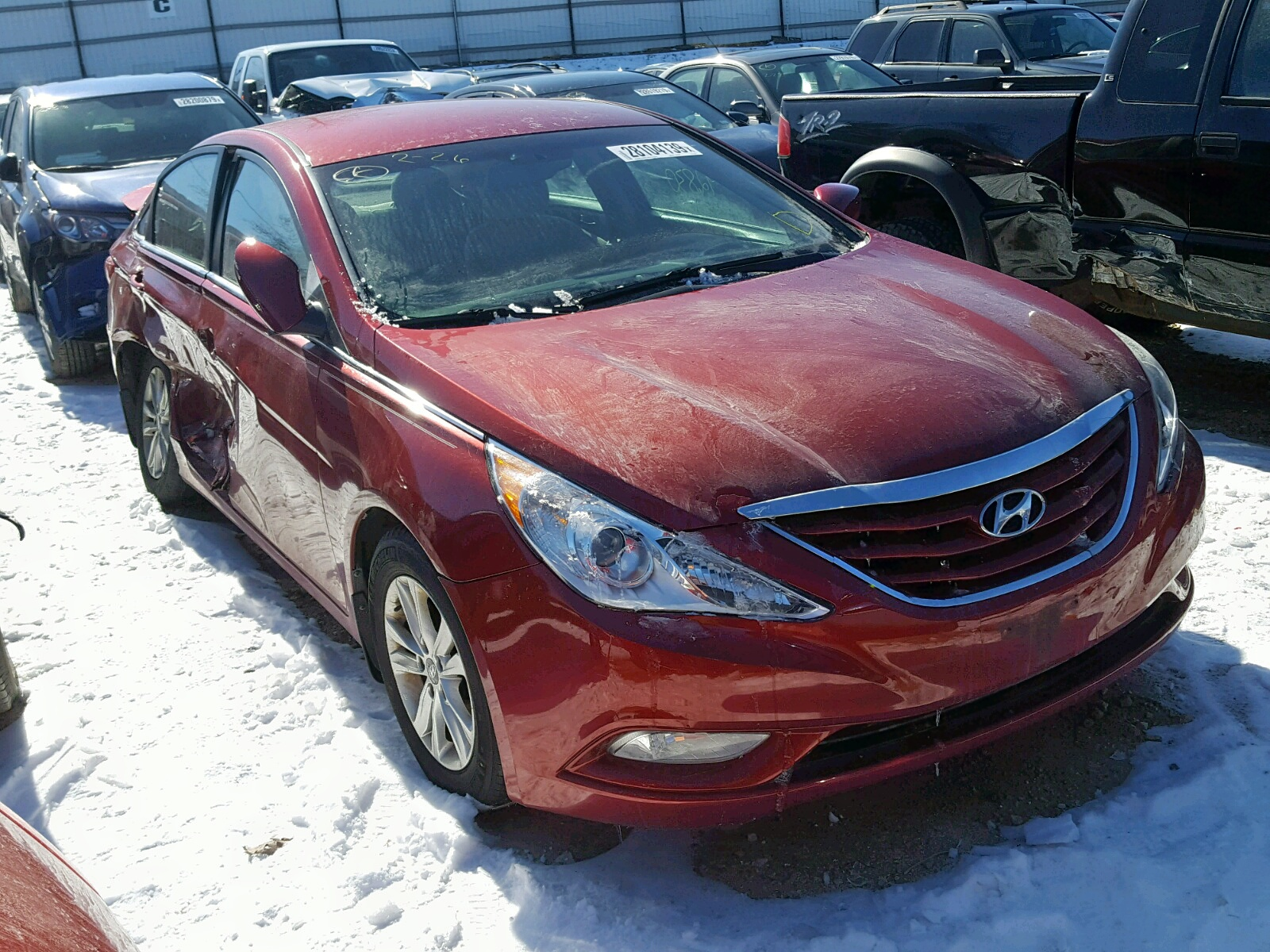 Salvage 2013 Hyundai SONATA GLS for sale