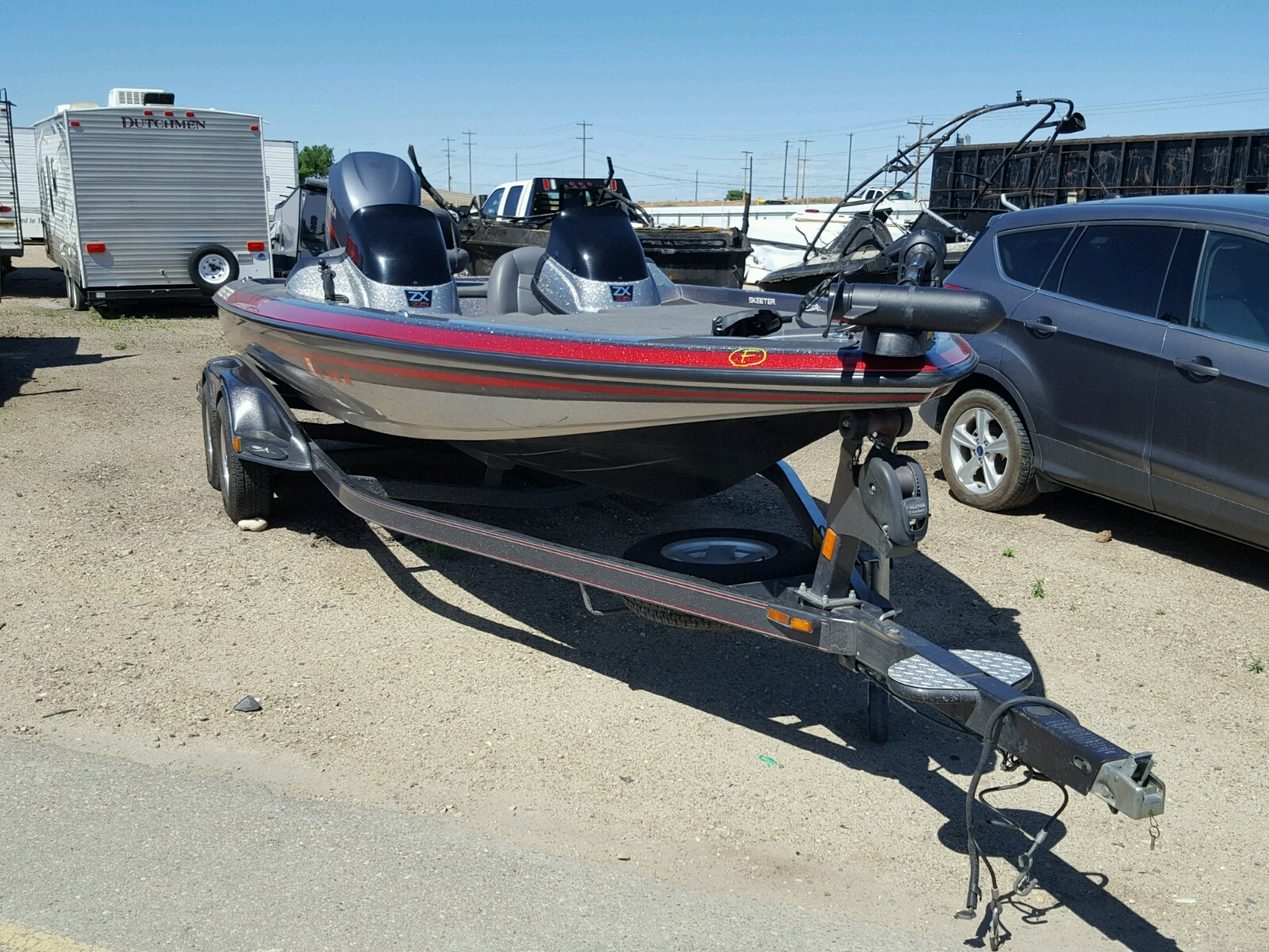 Salvage 2008 Sket BOAT WITH TRAILER for sale