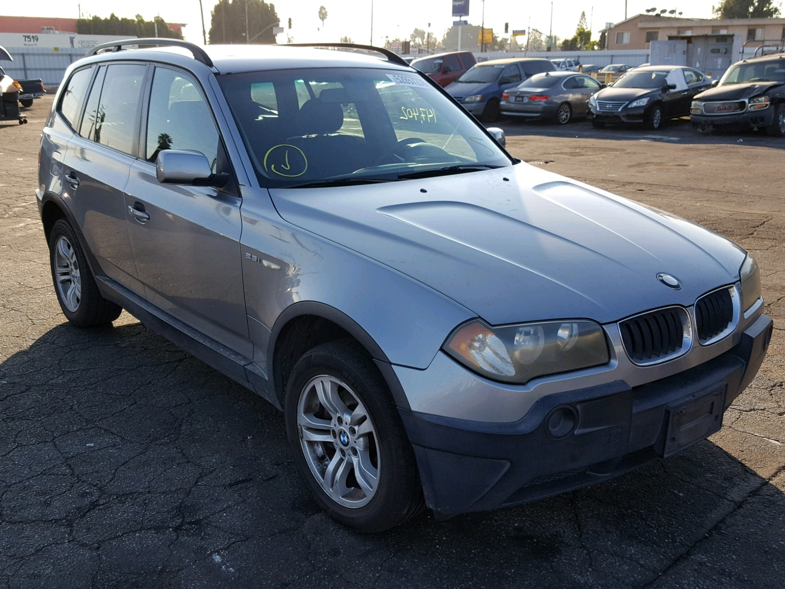 2004 Bmw X3 25I 25L 6 In CA Van Nuys WBXPA73414WA77858 For