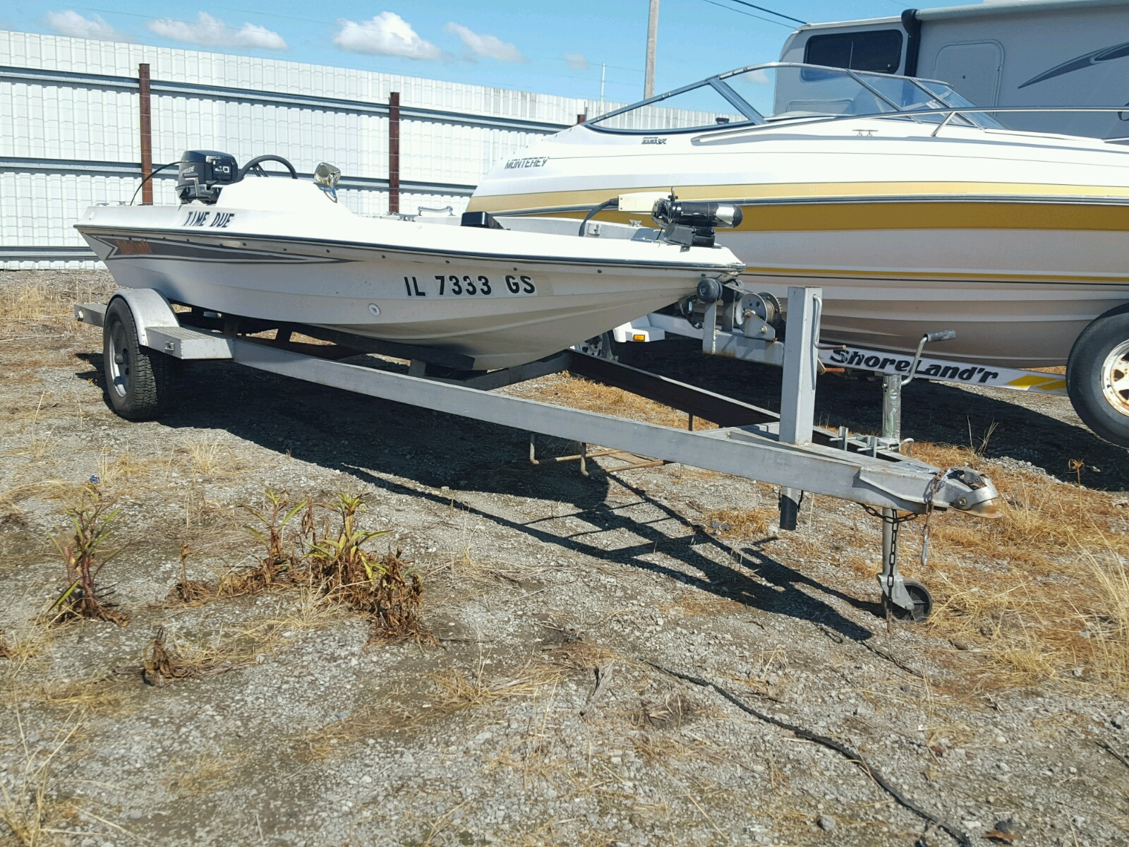 Salvage 1986 Tide BOAT WITH TRAILER for sale