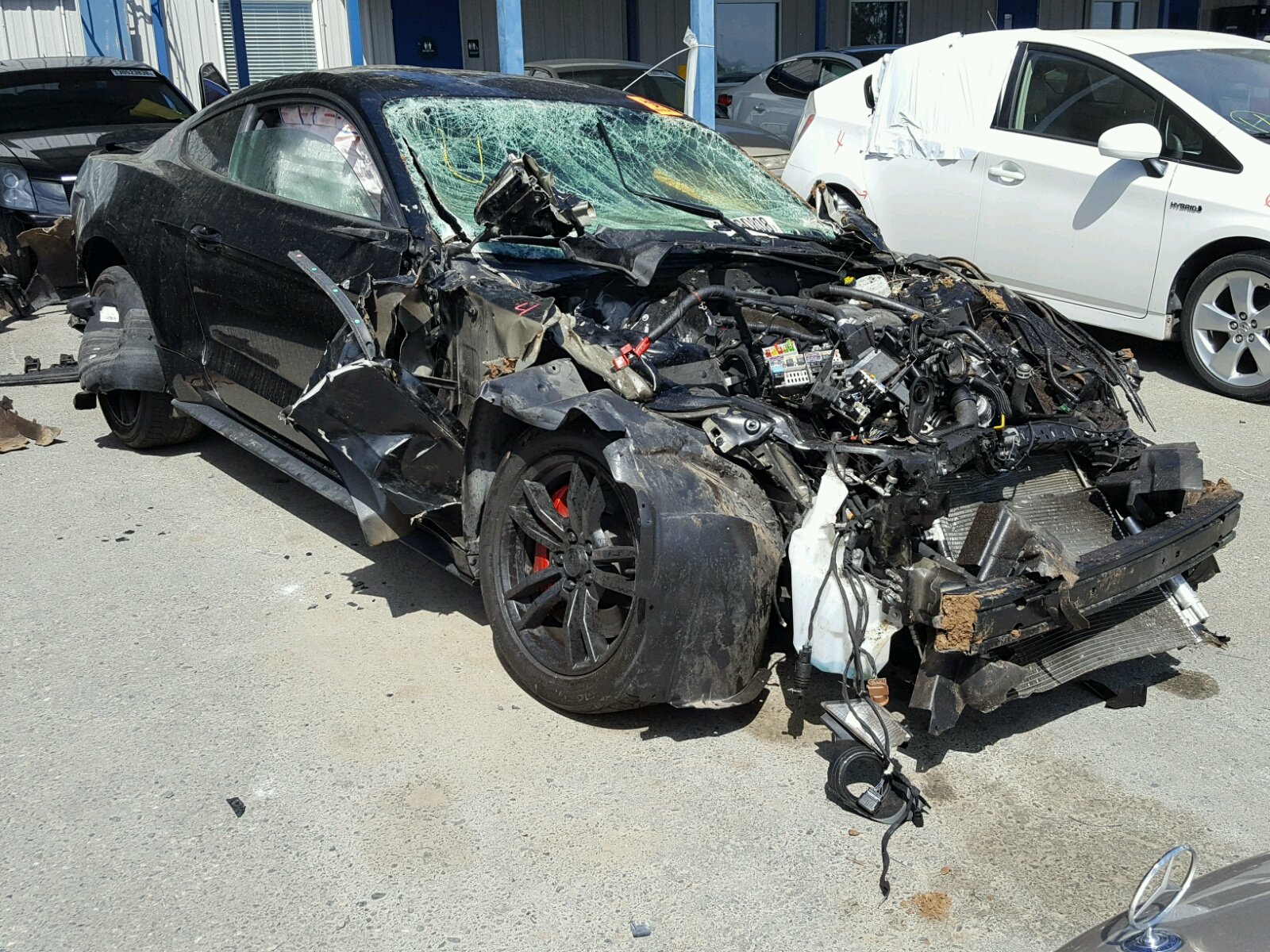 1fa6p8cf5f5434985 2015 Black Ford Mustang Gt On Sale In Ca Engine 50l Left View