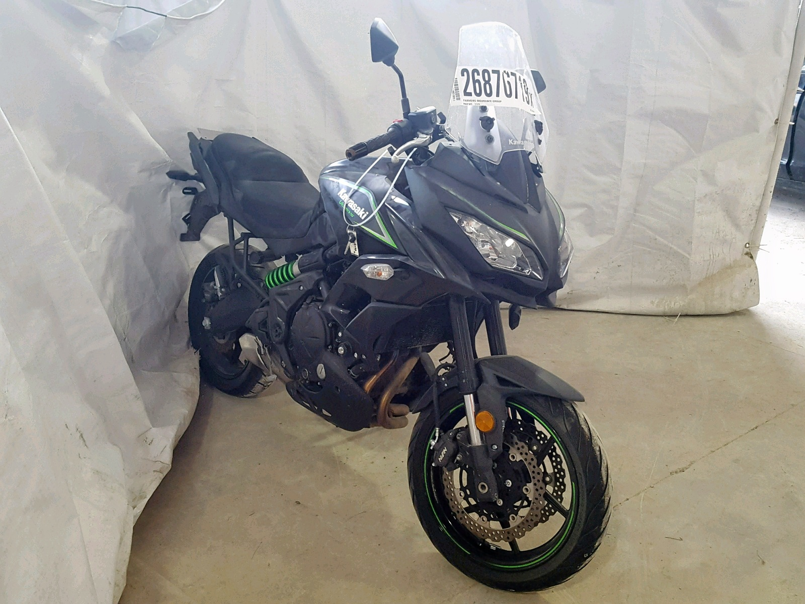 Salvage 2017 Kawasaki KLE650 F for sale