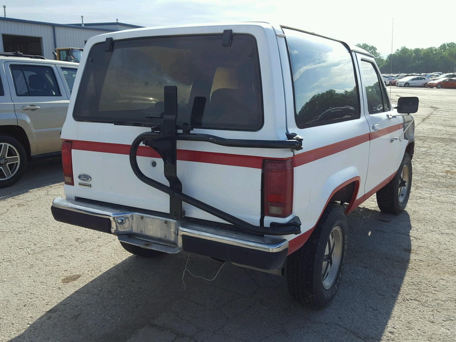 1986 Ford Bronco Ii 29l 6 In Ks Kansas City 1fmcu14t5gud22367 Fuel System Rear View