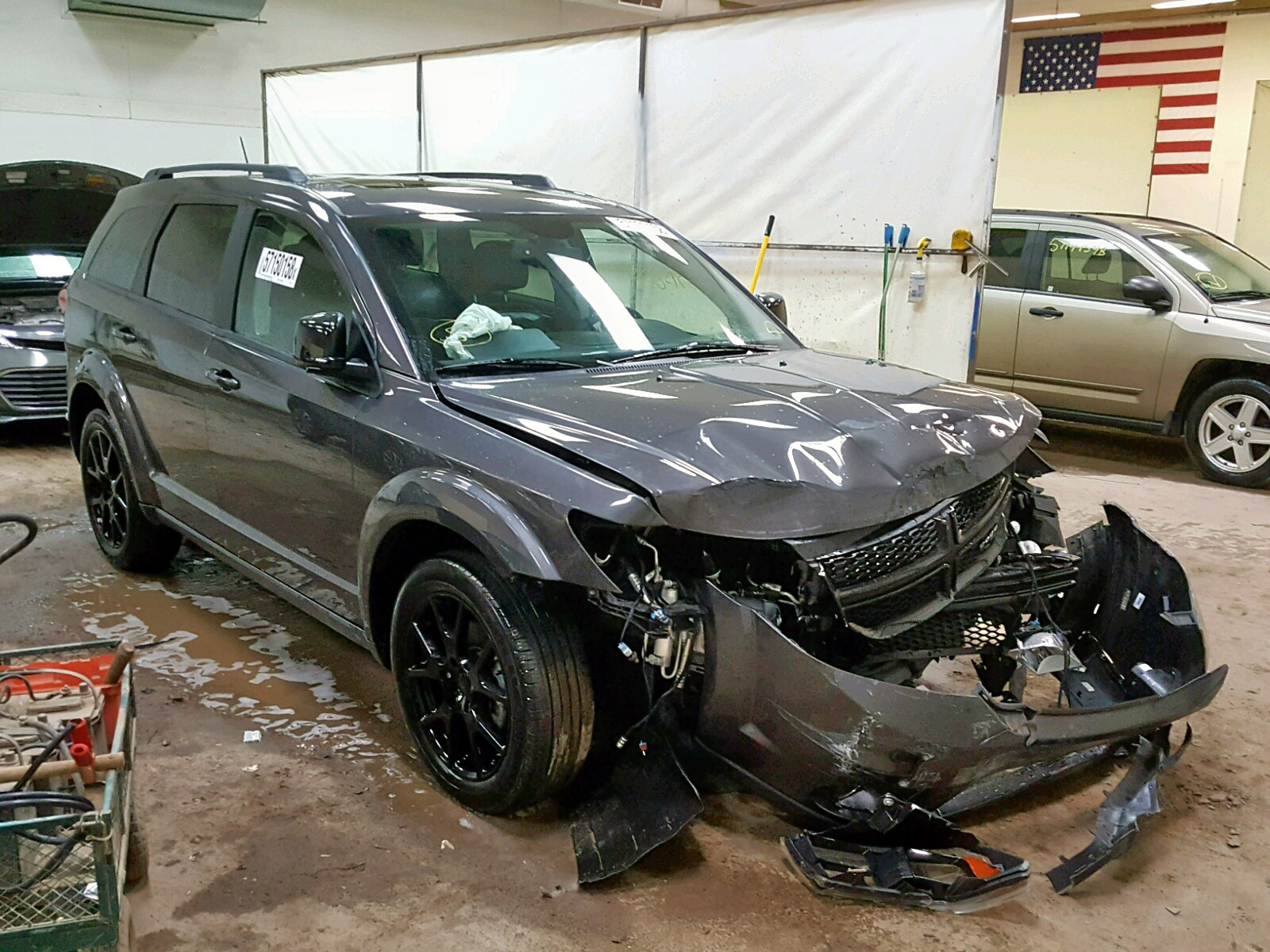 Salvage 2017 Dodge JOURNEY GT for sale