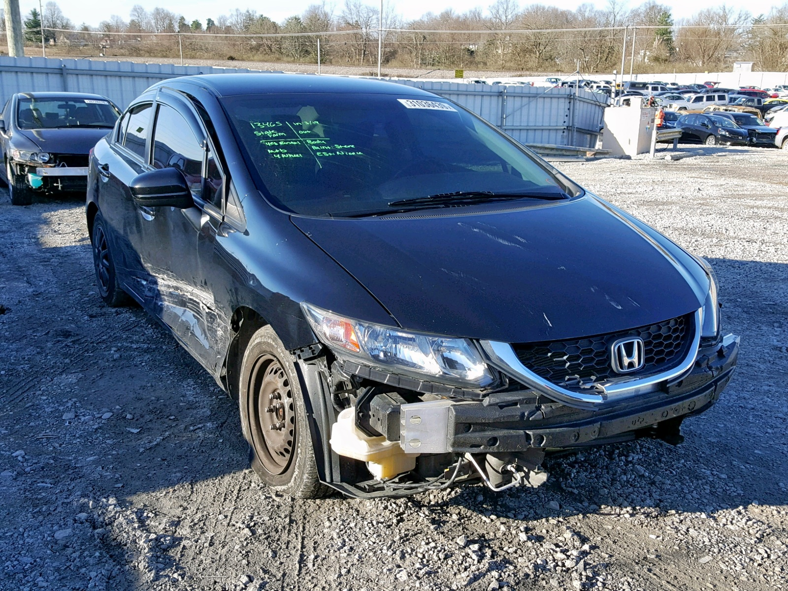Salvage 2014 Honda CIVIC LX for sale