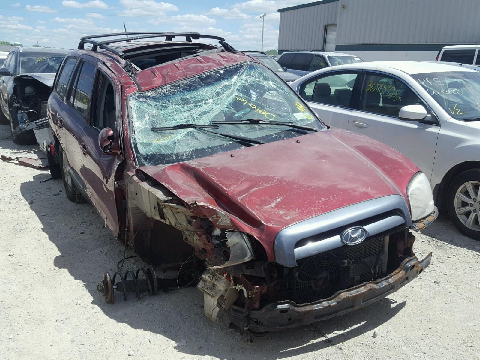 Salvage 2005 Hyundai SANTA FE G for sale