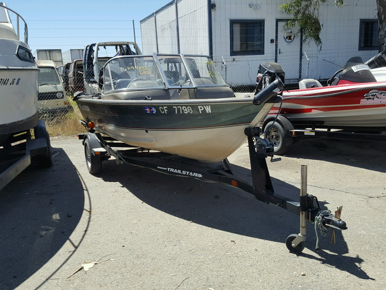 Salvage 2002 Tracker BOAT for sale