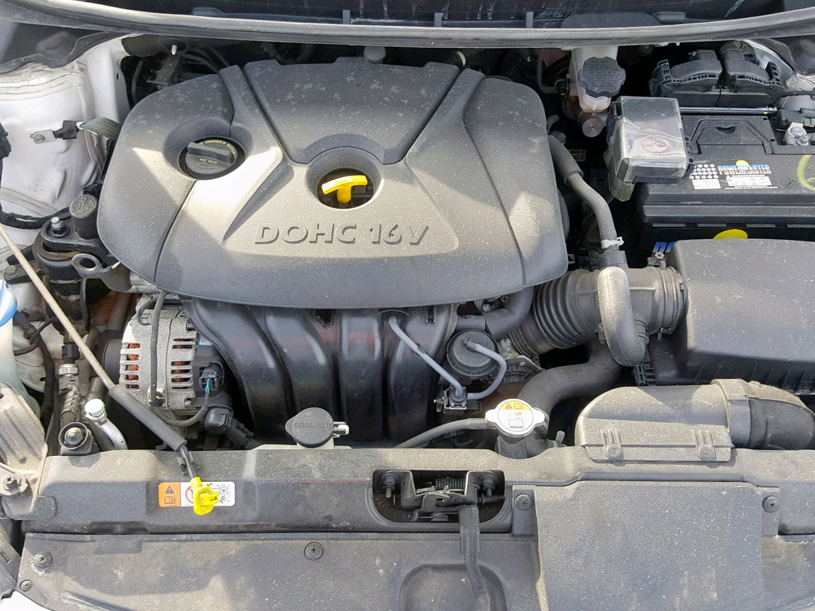 2016 Hyundai Elantra Se 1.8L inside view