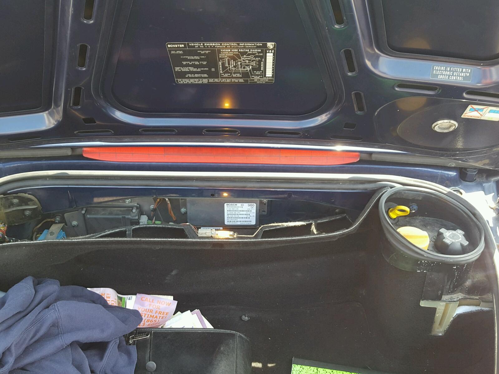 Wp0ca29832u622117 2002 Blue Porsche Boxster On Sale In Co Denver Engine Vacuum Diagram 27l Inside View
