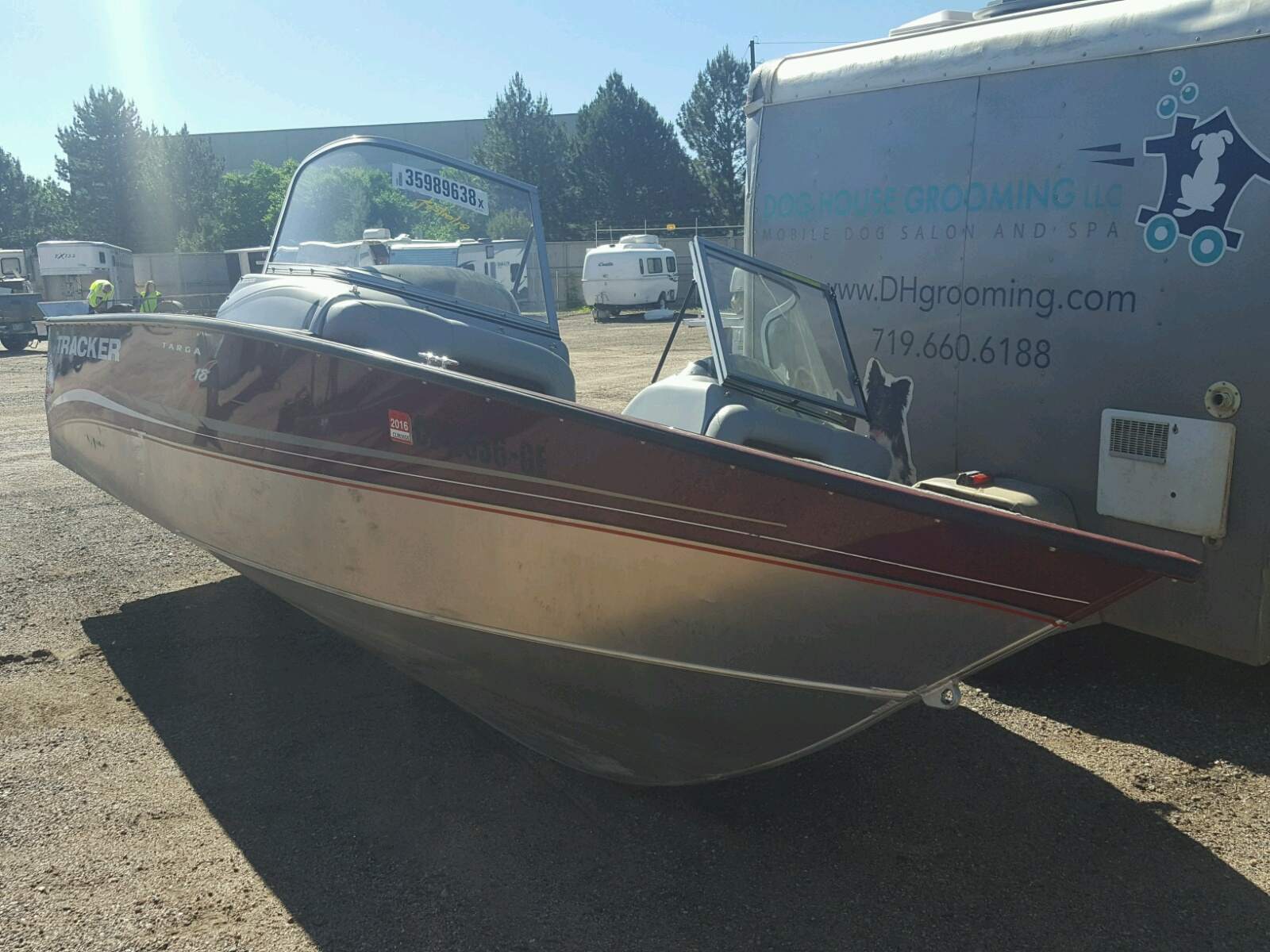 Salvage 2012 Tracker BOAT for sale