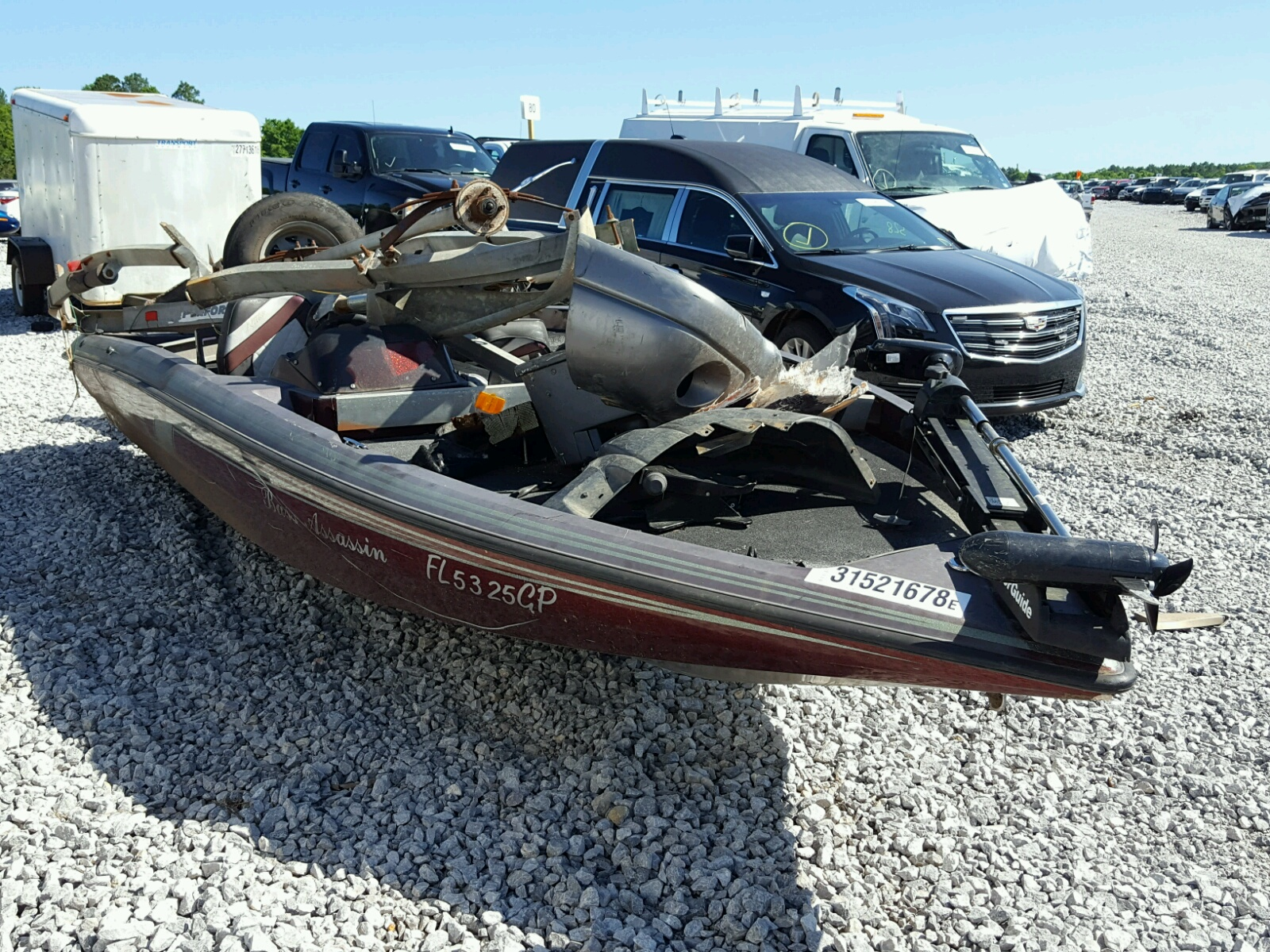 Salvage 1993 Nitrous MARINE TRAILER for sale