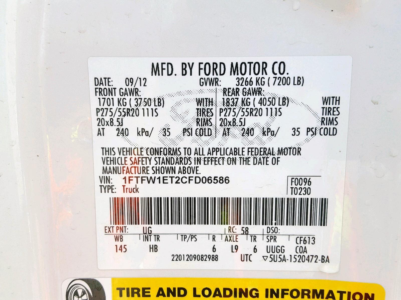 2012 Ford F150 Super 3 5L 6 in CO - Denver South