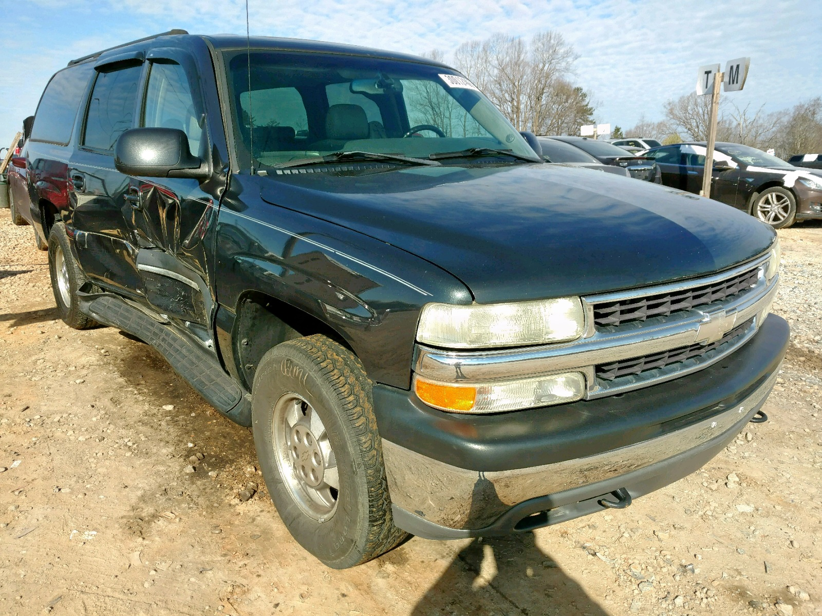 Salvage 2003 Chevrolet SUBURBAN K for sale