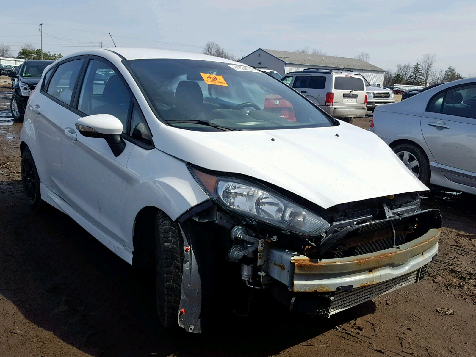 Salvage 2014 Ford FIESTA ST for sale