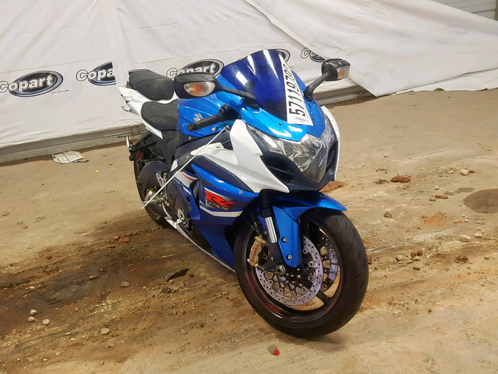 Salvage 2012 Suzuki GSX-R1000 for sale