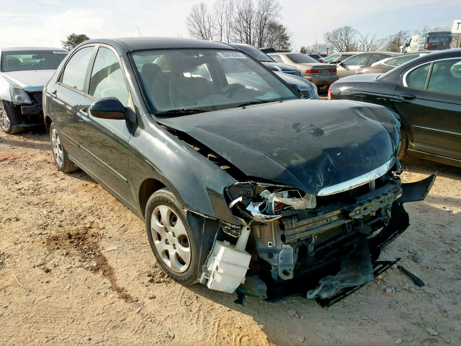 Salvage 2009 KIA SPECTRA EX for sale
