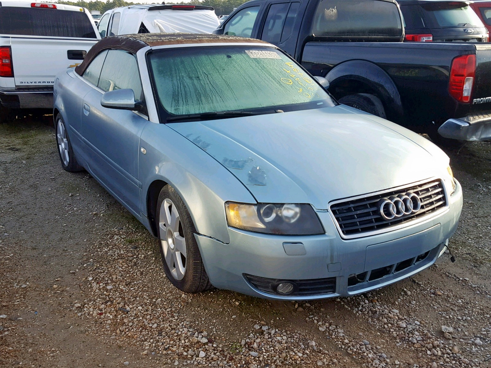 Salvage 2004 Audi A4 1.8 CABRIOLET for sale