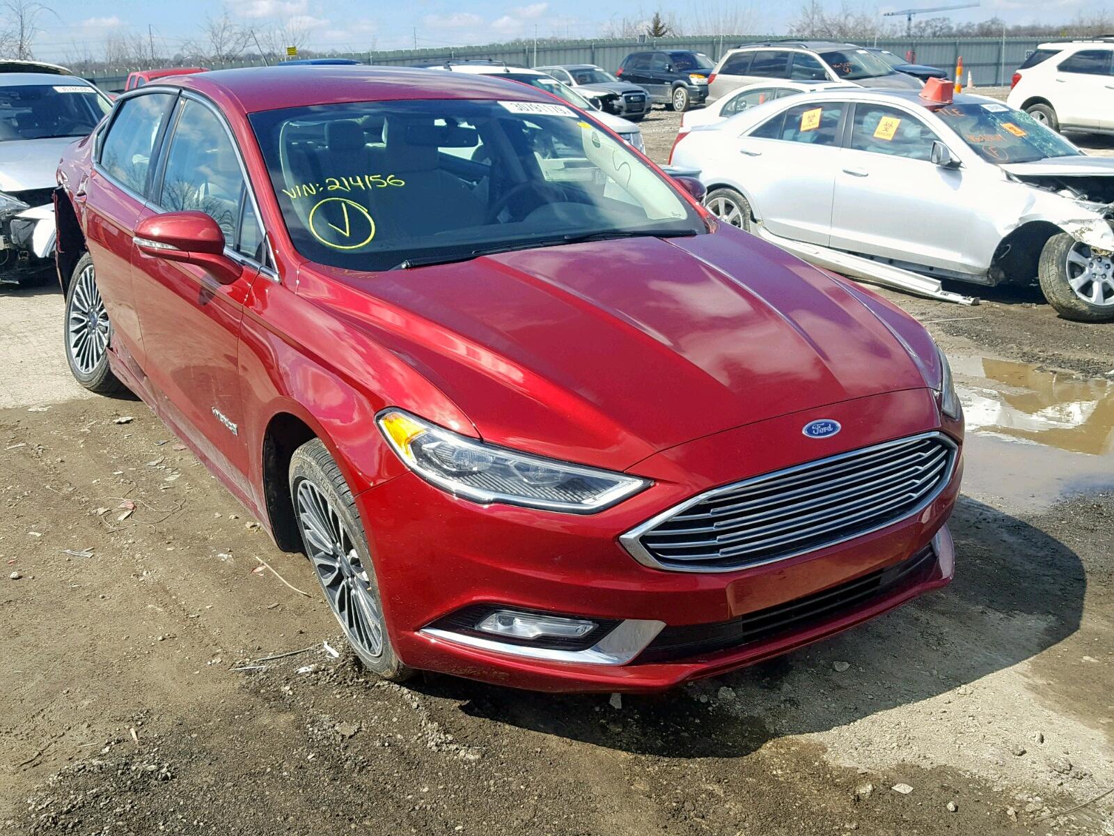 Salvage 2018 Ford FUSION TITANIUM for sale